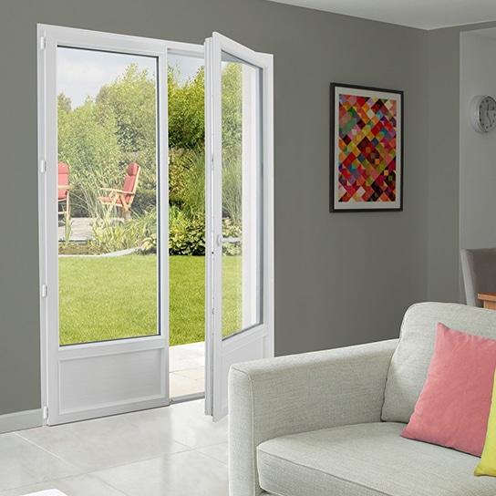 Porte-fenêtre PVC Saison 2 vantaux porte-fenêtre bonne isolation thermiques porte-fenêtre pasquet menuiseries