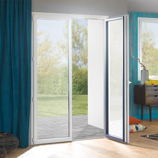 Porte-fenêtre PVC saison 2 vantaux porte-fenêtre isolante pvc pasquet menuiseries