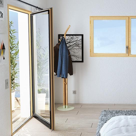 Porte-fenêtre en bois et aluminium mixte pasquet menuiseries porte-fenetre mixte pasquet menuiseries