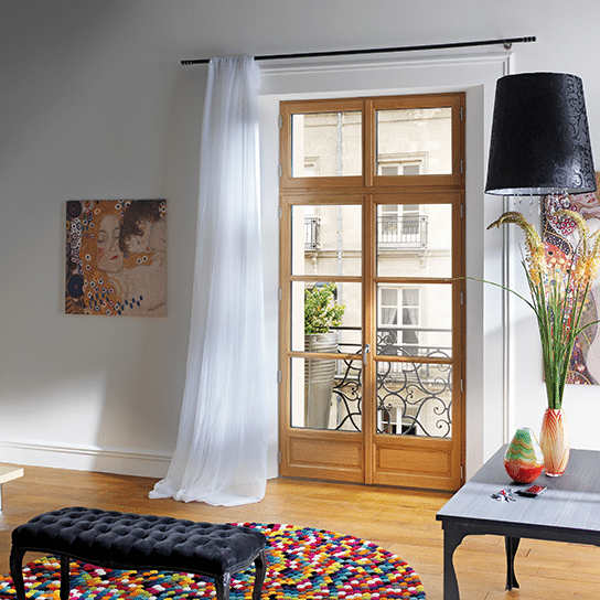 Porte-fenêtre en bois Racine Pasquet Menuiseries