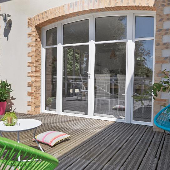 Porte-fenêtre bois Racine Pasquet Menuiseries