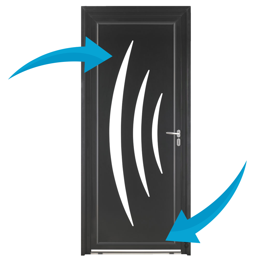 Porte d'entrée Aluminium Pasquet Azur