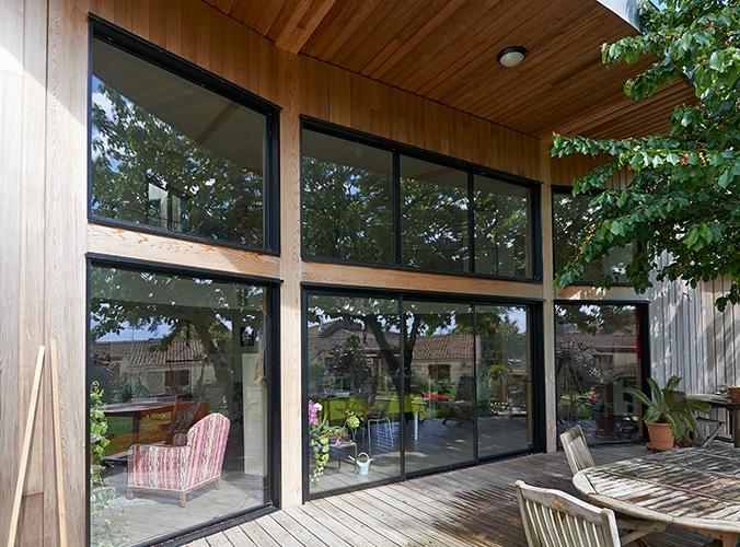 Porte-fenetre baies vitrées grandes ouvertures aluminium réalisation pasquet menuiseries 2