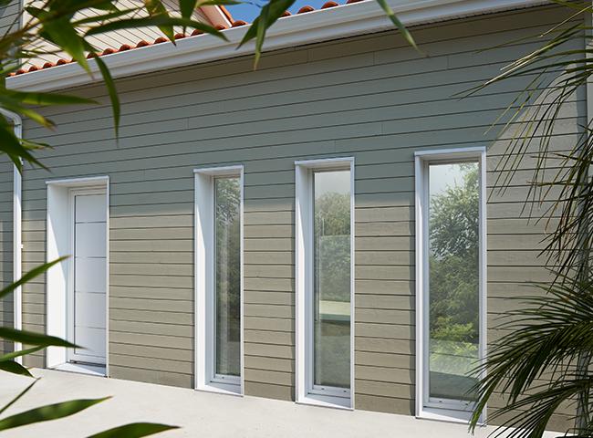 Fenêtre PVC 1 vantail Saison Fenêtre PVC Blanc Pasquet Menuiseries et porte entree aluminium atmosphère blanc