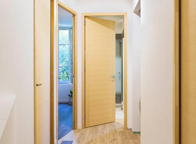 Porte interieure en bois COROT porte interieure a galandage 1 vantail porte bois fiche 2