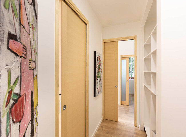Porte interieure en bois corot porte interieure a galandage 1 vantail porte bois fiche