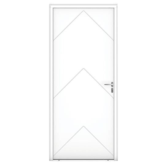 Porte d'entrée Bois Bréhat blanc vue extérieure