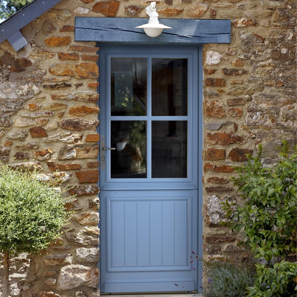 Porte fermière en bois, porte d'entrée en bois Guyenne